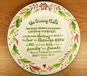 Hamilton The Giving Plate