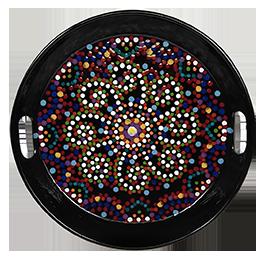 Hamilton Mosaic Mandala Tray