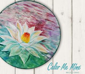 Hamilton Lotus Flower Plate