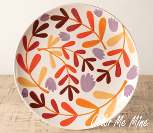 Princeton Fall Floral Charger