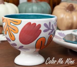 Princeton Floral Pedestal Bowl