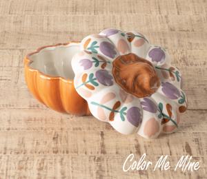 Princeton Floral Pumpkin Box