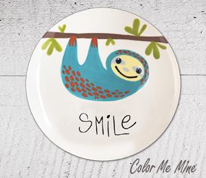Princeton Sloth Smile Plate