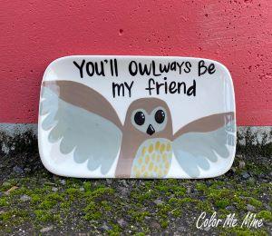 Princeton Owl Plate