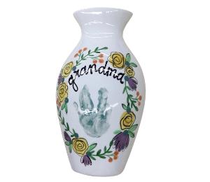 Princeton Floral Handprint Vase