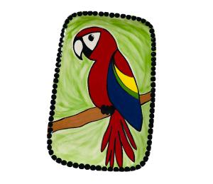 Princeton Scarlet Macaw Plate